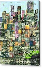 Green Metropolis  Acrylic Print by Andy  Mercer