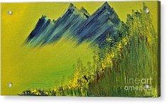 Green Mountain Acrylic Print