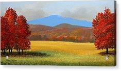 Green Mountain Landscape Acrylic Print by Frank Wilson