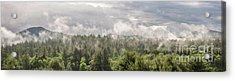 Green Mountains Fog Panoramic Acrylic Print
