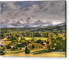 Green Mountains Of Vermont Acrylic Print