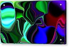 Green Nite Distortions 4 Acrylic Print
