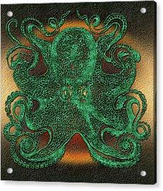 Green Octopus Acrylic Print