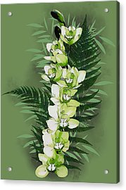 Green Orchid Acrylic Print