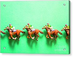 Green Paper Racecourse Acrylic Print
