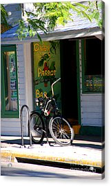 Green Parrot Bar Key West Acrylic Print by Susanne Van Hulst
