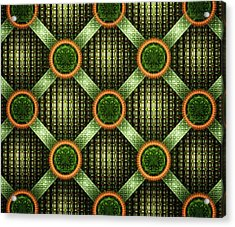 Green - Pattern - Fractal Acrylic Print by Anastasiya Malakhova
