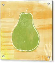 Green Pear 2- Art By Linda Woods Acrylic Print