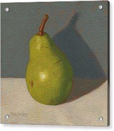 Green Pear Acrylic Print