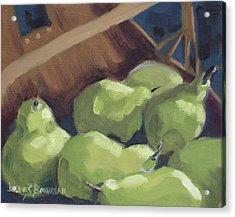 Green Pears Acrylic Print