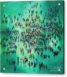 Green Piece Acrylic Print by Neil McBride