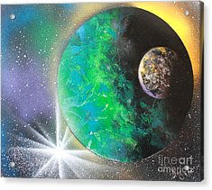 Acrylic Print featuring the painting Green Planet 4672 by Greg Moores