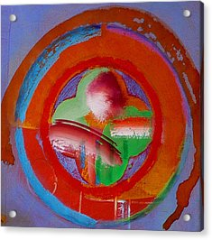 Acrylic Print featuring the painting Green Planet  by Charles Stuart