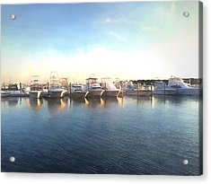 Green Pond Harbor Acrylic Print