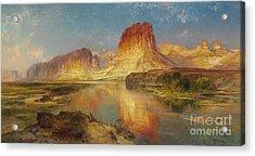 Green River Of Wyoming Acrylic Print by Thomas Moran