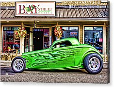 Green Roadster Acrylic Print by Carol Leigh