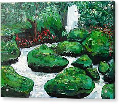 Acrylic Print featuring the painting Green Rock Creek by Dan Whittemore