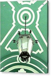 Green Shot Acrylic Print by Yury Bashkin