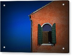 Green Shutters Acrylic Print by James Zuffoletto