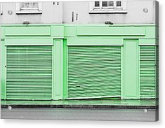 Green Shutters Acrylic Print