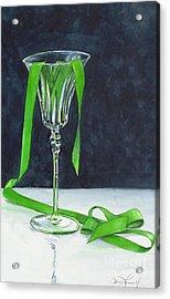 Green Spill Acrylic Print