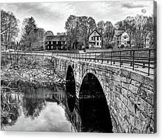 Green Street Bridge In Black And White Acrylic Print