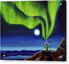 Green Tara Creating The Aurora Borealis Acrylic Print by Laura Iverson