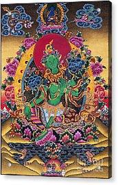 Green Tara Thangka Acrylic Print