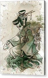 Green Tea Acrylic Print by Brian Kesinger