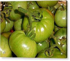 Green Tomato 1 Acrylic Print by Lanjee Chee