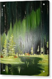 Green Trees Acrylic Print by Terry Lash