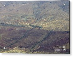 Green Valleys In Red Hills Acrylic Print by Tim Grams