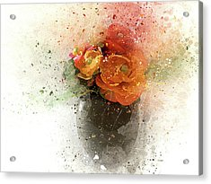 Green Vase Acrylic Print