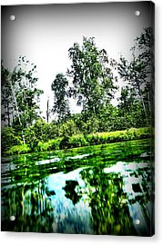 Green Waters Acrylic Print