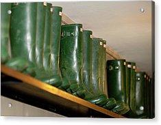 Green Wellies Acrylic Print