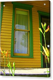 Green Window Acrylic Print by Ed Smith
