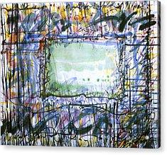 Green Window Acrylic Print by Tom Hefko