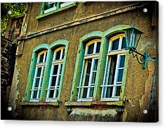 Green Windows Acrylic Print by Jill Smith