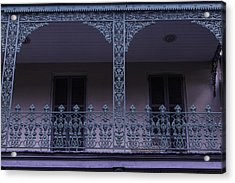 Green Wrought Iron Rails Acrylic Print by Garry Gay