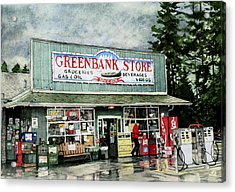 Greenbank Store Acrylic Print by Perry Woodfin