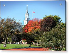 Greenfield Village And Henry Ford Museum In The Fall In Dearborn Michigan Acrylic Print by Design Turnpike
