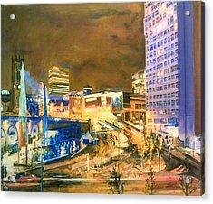 Greengate, Salford, Manchester At Night Acrylic Print