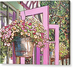 Greenhouse Doors Acrylic Print