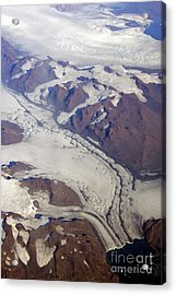 Greenland From 35 Thousand Feet Acrylic Print by Stan and Anne Foster