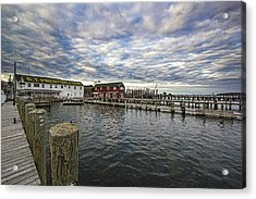 Greenport Dock Acrylic Print