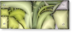 Greens Acrylic Print by Ron Bissett