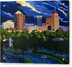 Greensboro Skyline In The Sunshine Acrylic Print