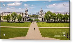 Greenwich Park And The Old Royal Naval College England Acrylic Print by Lexa Harpell