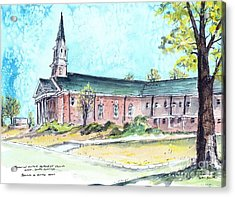 Greer United Methodist Church Acrylic Print by Patrick Grills