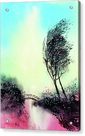 Acrylic Print featuring the painting Greeting 1 by Anil Nene